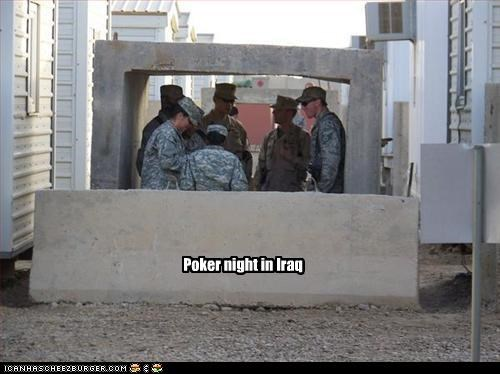 Poker night in Iraq