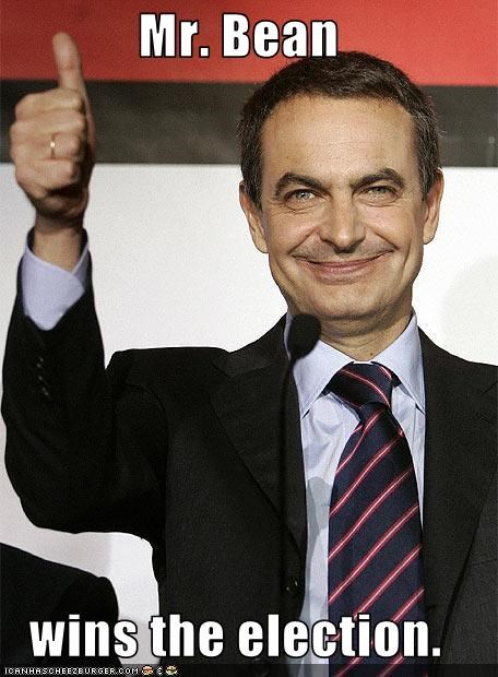 Mr. Bean  wins the election.