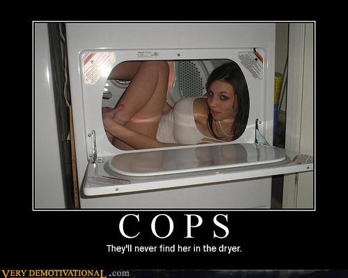 babe,cops,drier,hide and seek,hilarious,Terrifying