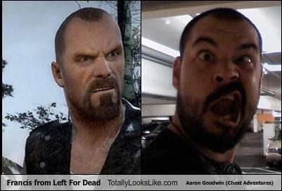Francis from Left For Dead Totally Looks Like Aaron Goodwin (Chost Adventures)