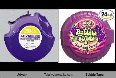 advair,bubble tape,gum,image,medicine,packaging