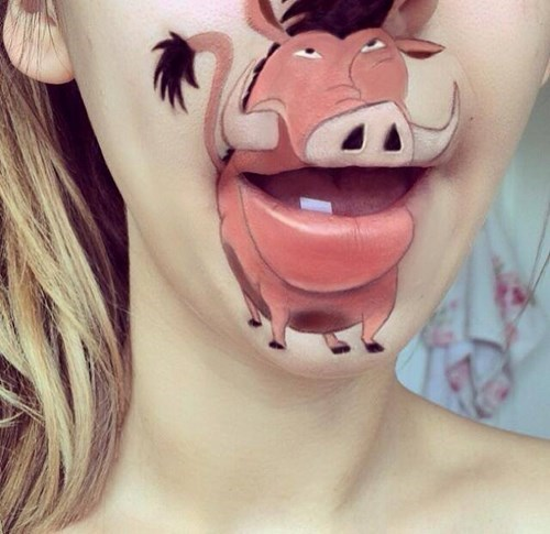 This Makeup Artist Transformed Her Mouth Into Some of Your Favorite Cartoon Characters