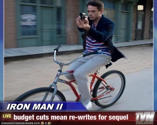 IRON MAN II - budget cuts mean re-writes for sequel