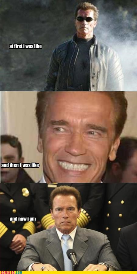 Arnold Schwarzenegger,At first I was like awesome,but then I became more awesome,but then i,california,terminator