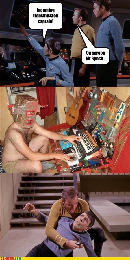 certain tragedy,kirk,lol,lols,Spock,Star Trek,weird dude
