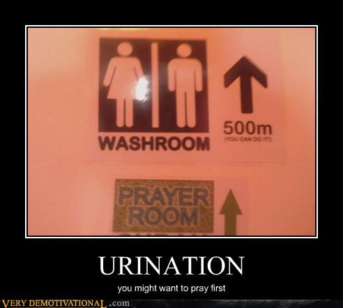 Pee Time Is Pray Time