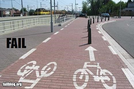 Bike Path Fail