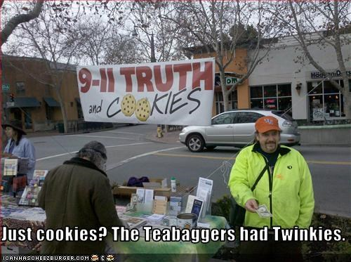 Just cookies? The Teabaggers had Twinkies.