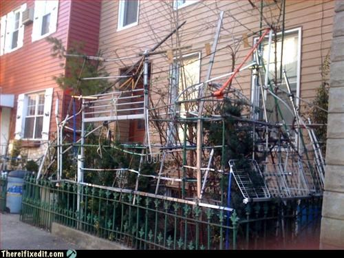 cobbled together,curb appeal,recycling-is-good-right,scrap,trellis