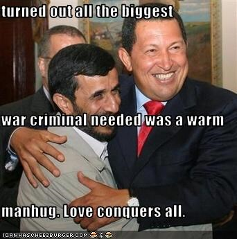 turned out all the biggest  war criminal needed was a warm manhug. Love conquers all.