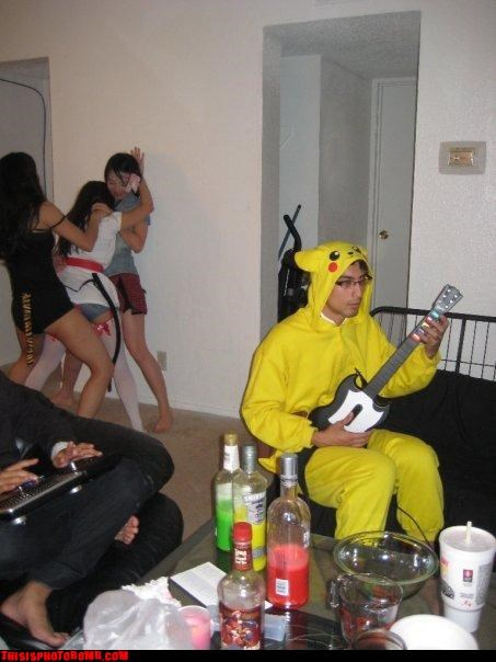 awesome,costume,Good Times,Guitar Hero,Party,Pokémon,sexy girls
