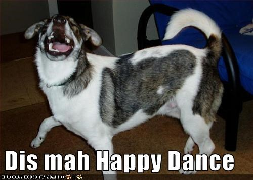 Dis mah Happy Dance