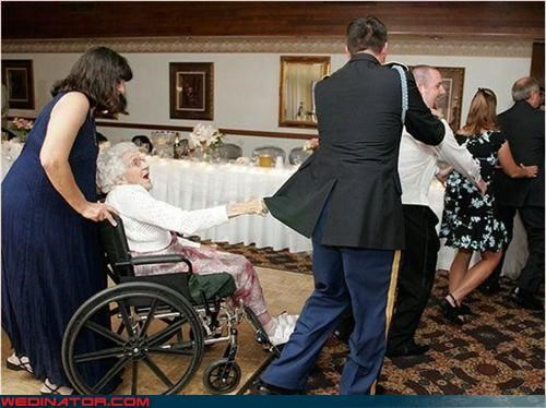 Conga line,fashion is my passion,Gloria Estefan,Grams,grandma,limited mobility,surprise,technical difficulties,wedding party