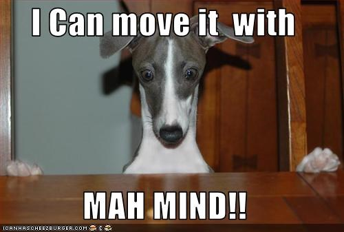 I Can move it  with  MAH MIND!!