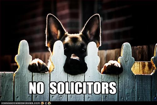 NO  SOLICITORS