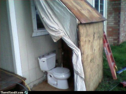 outhouse,plywood,toilet