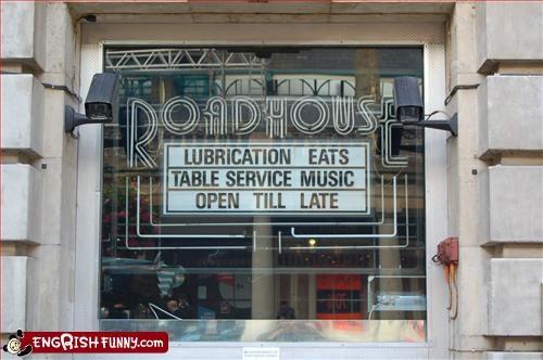 lube,restaurant,service,sign