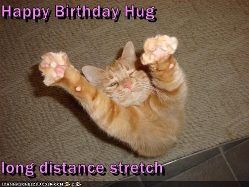 Happy Birthday Hug  long distance stretch
