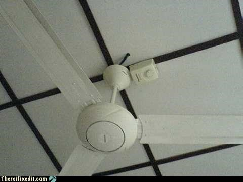 Switch on a ceiling!!