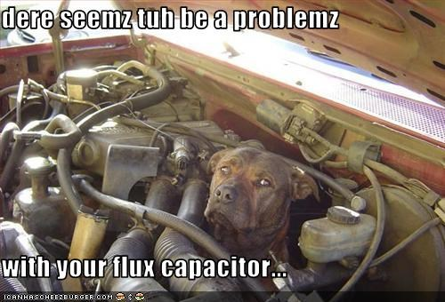 dere seemz tuh be a problemz  with your flux capacitor...