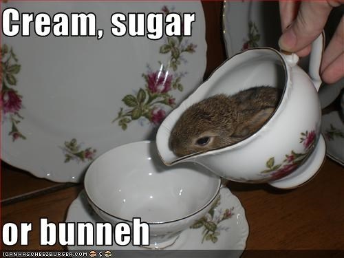 Cream, sugar  or bunneh