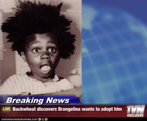 Breaking News - Buckwheat discovers Brangelina wants to adopt him