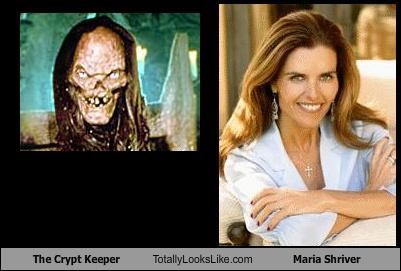 The Crypt Keeper Totally Looks Like Maria Shriver