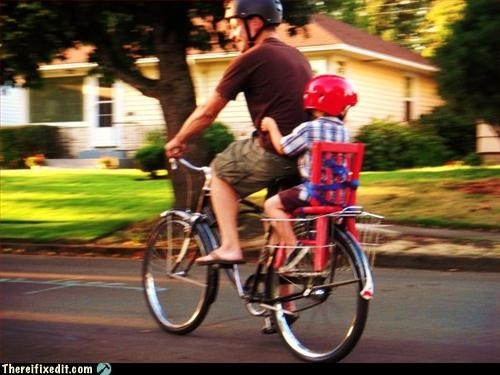 bicycle,kids,plastic chair,safety first