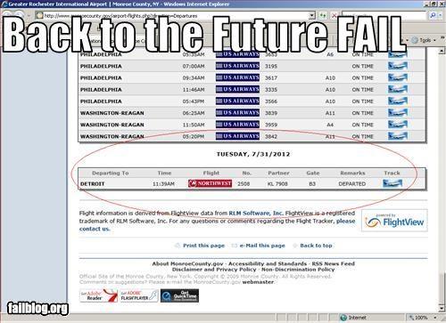 Back to the future Fail