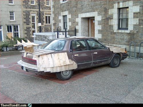 car,mod,spoiler,wood,wtf