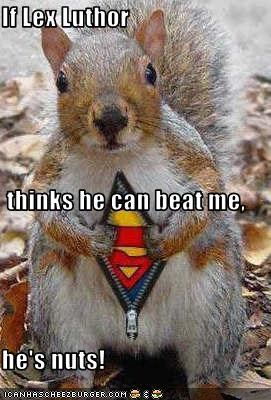 If Lex Luthor  thinks he can beat me, he's nuts!