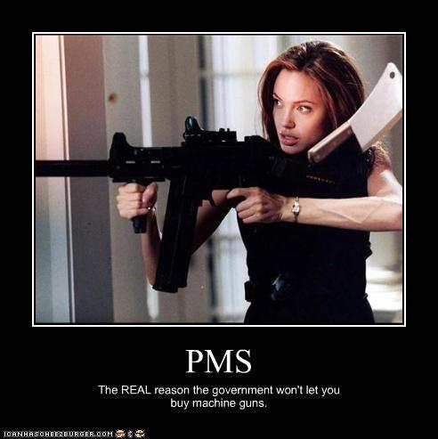 Angelina Jolie,guns,pms