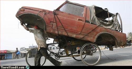car,hauling,super strength,tow
