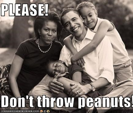 PLEASE!  Don't throw peanuts!