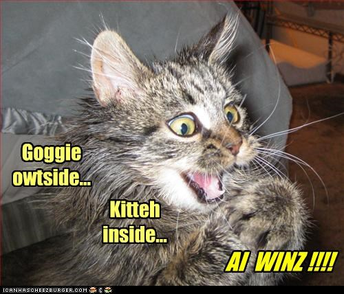 Goggie  owtside...