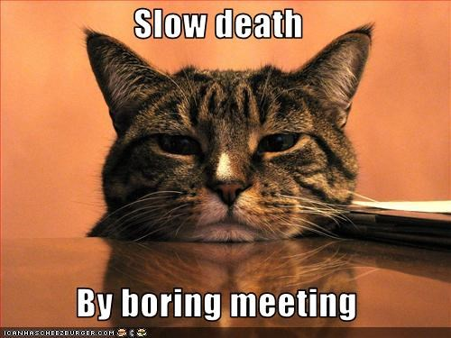Slow death  By boring meeting