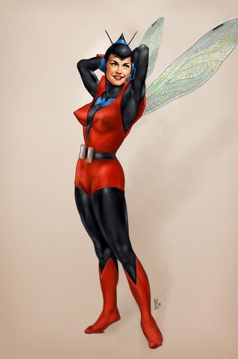 Vintage Super Heroine Art