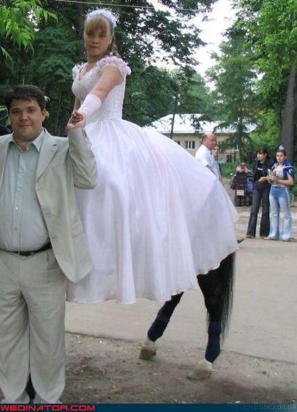 Crazy Brides,fashion is my passion,freaky,horse,Kentaurides,quinceanera,show horse,surprise,were-in-love,wtf,young bride