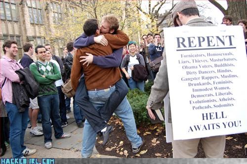 anti-protest,gay rights,PDA,Protest