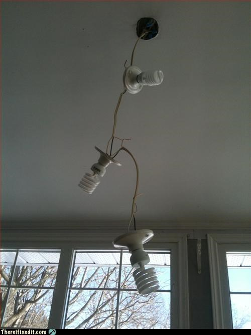 Redneck 'green' chandelier