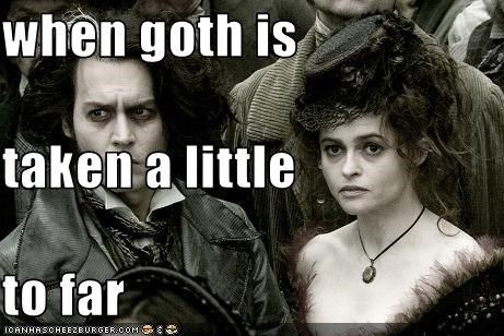 when goth is taken a little to far