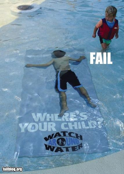 Child Drowning Ad fail