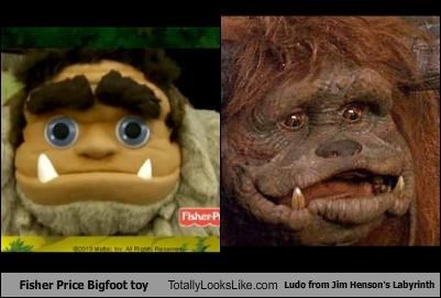 Fisher Price Bigfoot toy Totally Looks Like Ludo from Jim Henson's Labyrinth