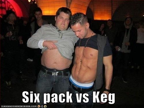 Six pack vs Keg