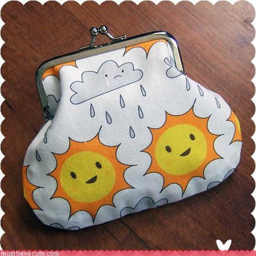 bag,cloud,pouch,sun