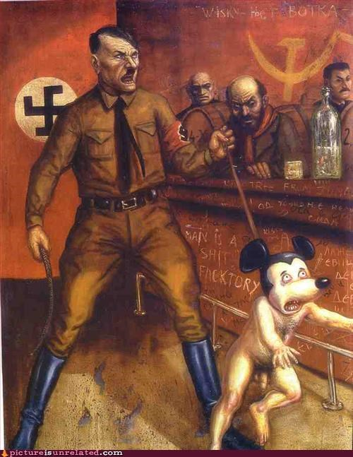 Hitler versus Naked Mickey Mouse