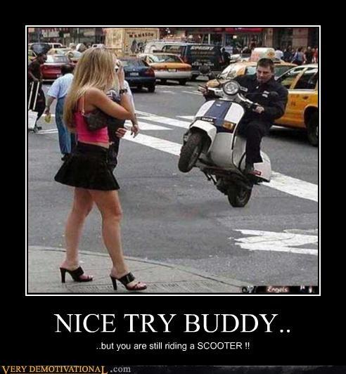impressive,Sexy Ladies,wheelie,scooter
