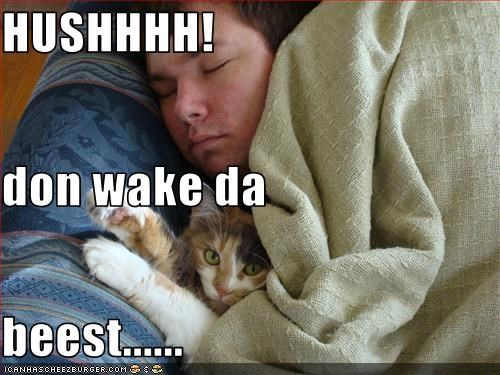 HUSHHHH! don wake da  beest......
