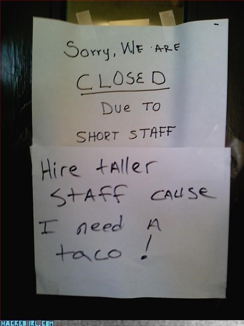 closed,hungry,play on words,taco