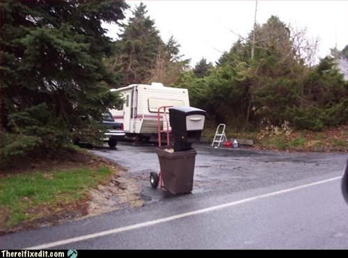 mailbox,not intended use,trash can